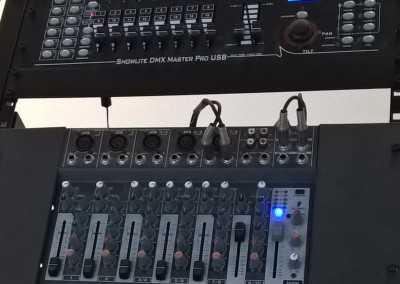 Audio and DMX light mixers